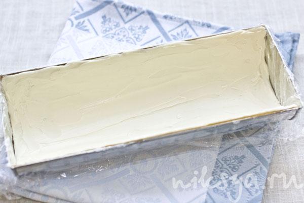 первый слой белого шоколада