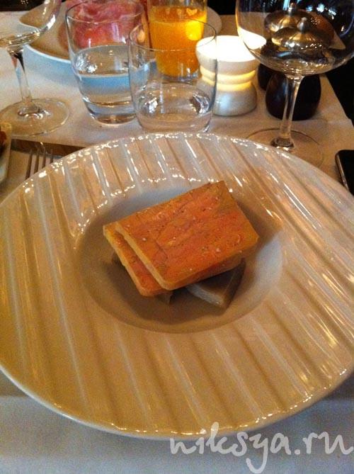 Фуа-гра в ресторане Жерара Депардье