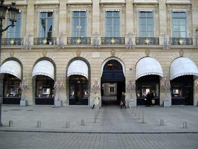 Бутик и музей Chaumet на площади Vendome в Париже