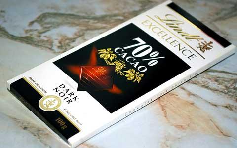 Черный шоколад с содержанием какао 70%