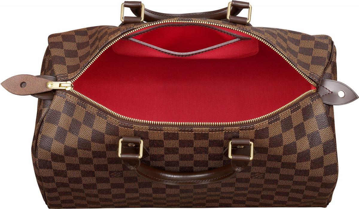 LV сумка damier, подкладка