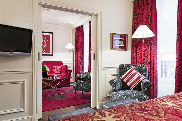 Внутрянняя обстановка в бутике-отеле Кеплер в Париже