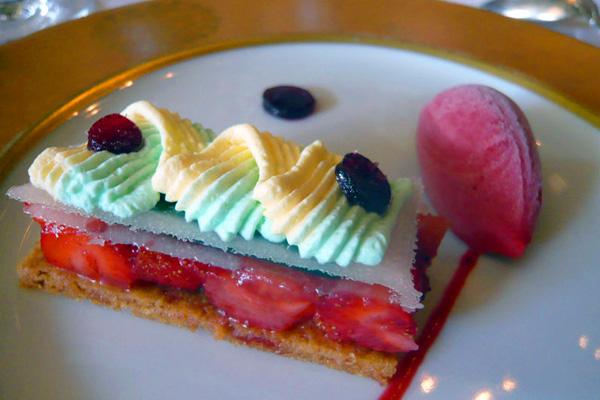 Хрустящее клубнично-лимонное пирожное от шеф-повара Ги Мартена