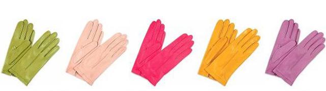 По цвету кожаные перчатки должны сочетаться вашей одеждой