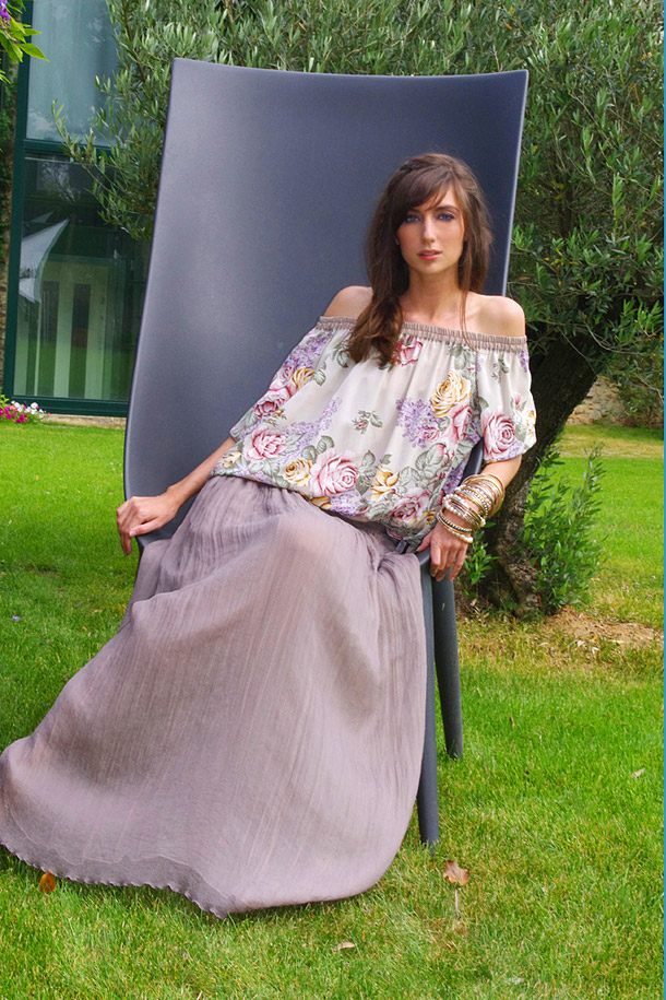 Аня в длинной юбке от стилиста Inna Honour