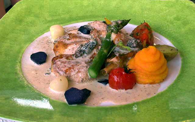 гастрономический ресторан Вербуа в Шантийи: цесарка под соусом из сморчков