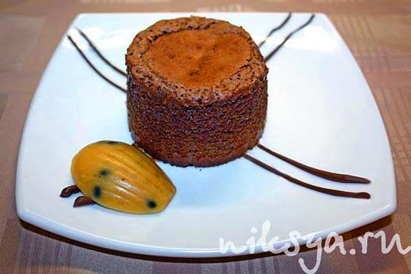 Fondant au chocolat от парижского кондитера Пьера Эрме в исполнении эксперта Paris-Chance Нины Тарасовой