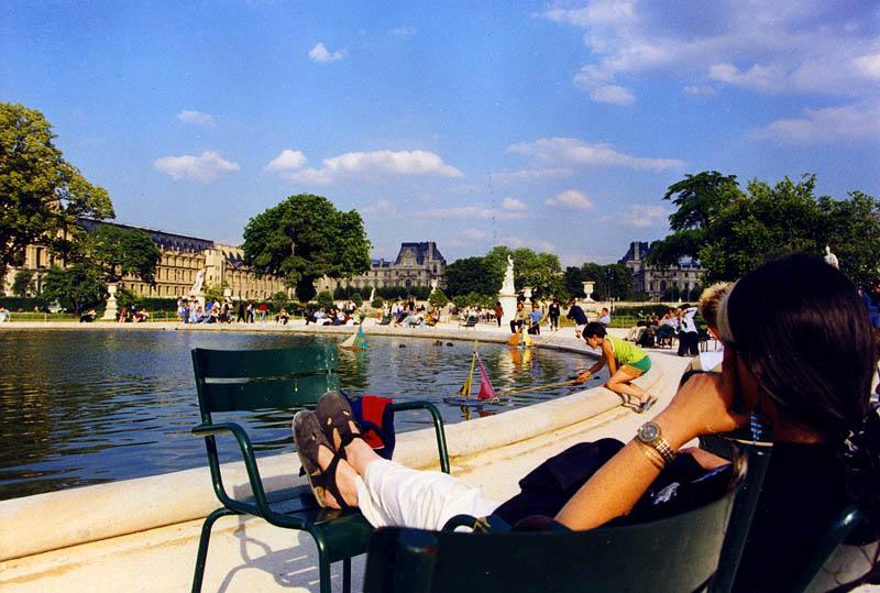 Прогулка в садах Tuileries